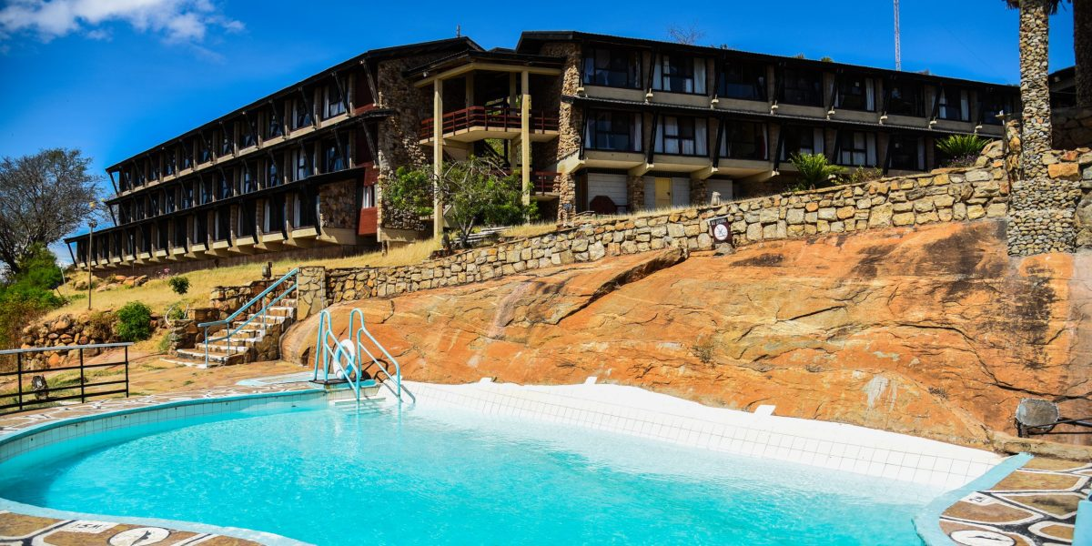 LODGE VIEW FROM THE POOL